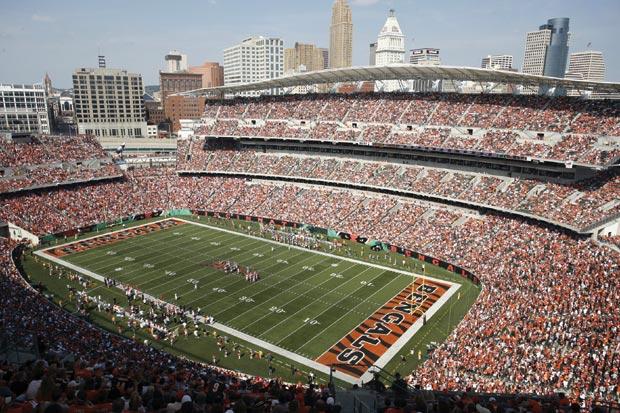 Image of Paul Brown Stadium in Cincinnati.